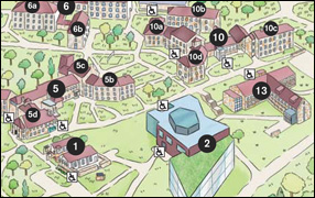 Goucher Campus Map