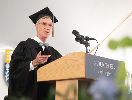 Image associated with Bill Nye gives keynote at 2019 Commencement news item