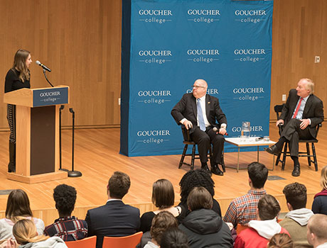 Image associated with Governor Hogan and Comptroller Franchot Visit Goucher for