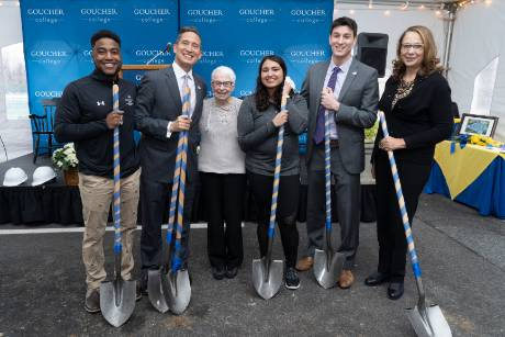 Image associated with Goucher College breaks ground on Evelyn Dyke Schroedl '62 Tennis Center news item