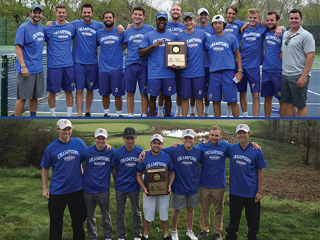 Image associated with Goucher Men's Tennis and Golf Teams Win Landmark Conference Championships news item